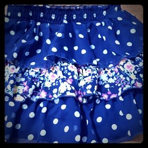 Girls Polka Dot Layered Skirt